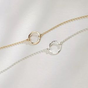NWT 925 Sterling Silver Circle Choker Necklace